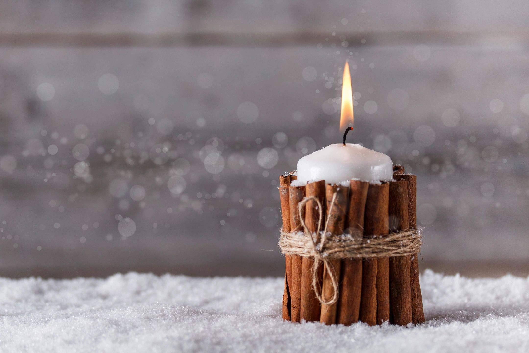 Winter Candle representing the loneliness some feel during the holidays